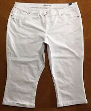 MAURICES Womens White Boyfriend Jeans Size 24