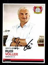 Rudi Völler AUTOGRAFO biglietto BAYER LEVERKUSEN 2011-12 ORIGINALE FIRMATO + a 133219