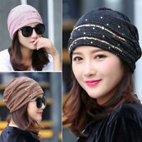 Women Lace Muslim Ruffle Cancer Chemo Hat Beanie Scarf Turban Head Wrap Cap Hat