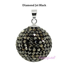 CZ Sterling Silver Top Quality pendant necklace men women Shamballa 12mm 5 color