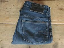 """G-STAR JEANS """"3301 LOW TAPERED"""" (30x32) FADED SLIM DISTRESSED 100% COTTON BUTTON"""
