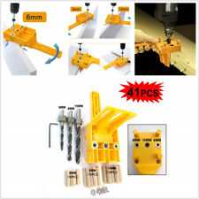 41PCS /Set Handheld Woodworking Dowel Jig Set Wood Hole Drilling Guide DIY Tool