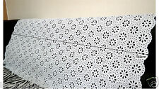 """1y Embroidery  Eyelet Cotton Lace Fabric White - 90cm(36"""") x 132cm(52"""") yh1447"""
