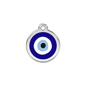 Red Dingo Dog Cat Pet ID Tag Charm FREE Personalized Engraving EVIL EYE