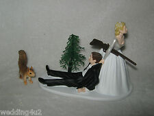 Wedding Party Reception ~Squirrel~ Cake Topper Hunter Hunting Redneck Rifle