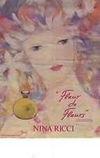 PUBLICITE  1983  NINA RICCI nouvelle présentation parfum FLEUR de FLEURS