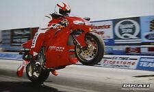 Ducati 916 Wheelie Poster 90er Jahre Kunstdruck 44 x 32 cm Motorrad Italien
