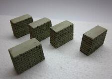 5 Stück Brückenpfeiler, H0, TT - 4,5 cm