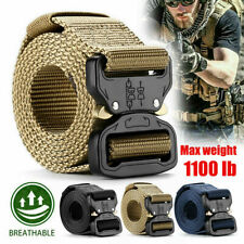 Adjustable Men Nylon Webbed Military Belt Buckle Tactical Rescue Tool Rigger US