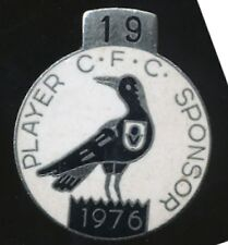 1976 Collingwood Player Sponsor Medallion badge No. 19 Football Club RARE