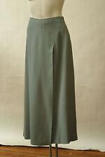 NWOT Emporio Armani Long Skirt Front Vent Crepe Blue Gray 44 8