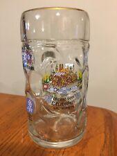 Vtg Large Glass Advertising Beer Mug Stein Gruss Vom Oktoberfest Muncheon