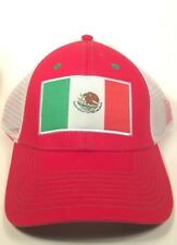 92378ec7b19 Mexico Flag Trucker Snapback Hat Cap New - White Black