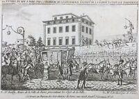 Louis 16 à Paris Juillet 1789 Quai de Passy Bailly Gravure Révolution Française