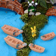 Fishing Boat Miniature Fairy Garden Home Decoration  DIY Accessories Pop UK