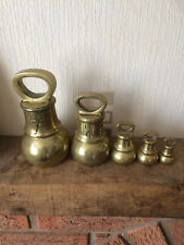 Antique Solid Brass Victorian Grocers bell weights