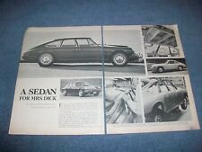 "1967 Porsche 911S Custom 4-Door Vintage Article ""A Sedan for Mrs. Dick"""