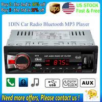 1Din Car Stereo Radio In-dash MP3 Player BT Head Unit FM USB/SD/AUX DC12V