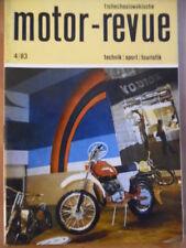 Tschechoslowakische MOTOR REVUE 4 - 1983 (1) Skoda Jawa Jänner Rallye CZ 125/175