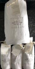 Restoration Hardware Cotton/Linen King Duvet & 3 Euro Shams In White