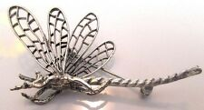Signed Beaucraft Sterling Silver 3D Dragonfly Pin
