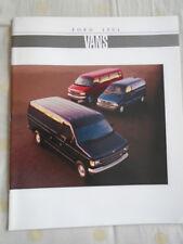 Ford Vans brochure 1994 USA market