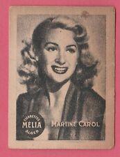 Cigarettes Melia Algeria Rare 1950s Film Star Tobacco Card - Martine Carol