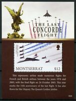Montserrat Aviation Stamps 2018 MNH Concorde Last Flight Red Arrows 1v S/S