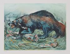 Everett E.Hibbard, Wolverine, Litografia, Firmato E Numerato IN Matita