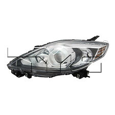 TYC 20-12024-91 Headlight Lamp Left Driver Side LH Halogen Black Trim New