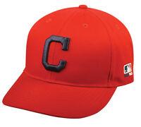 Cleveland Indians MLB OC Sports Hat Cap Solid Red w/ C Logo Team Adjustable