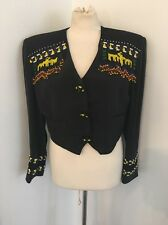 Vintage Erez Levy Native American Style Suede Silk & Fringe Beaded Jacket Sz 8