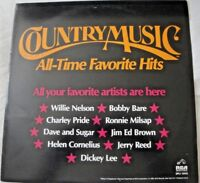 COUNTRY MUSIC ALL TIME FAVORITE HITS VINYL LP ALBUM 1980 RCA VARIOUS ARTISTS EX