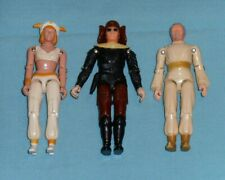 vintage BUCK ROGERS LOT x3 action figures Draco DRACONIAN GUARD Ardella
