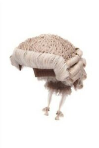 Traditional Barristers Wig - Grey/White - Handmade in UK
