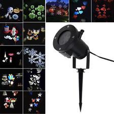 12 Pattern Garden LED Laser Landscape Projector Light Lamp Christmas Xmas Party