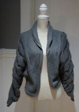 Kersh Womens Sweater Size M/M Gray Gathered Fitted