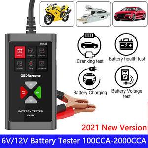 12V Car Battery Tester Digital Diagnostic Tool Cranking Charging Analyzer Tool