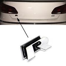 R Line Rline 3D Alloy Metal Car Rear Boot Wing Fender Black Sticker Badge for VW