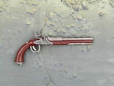 1/6 Scale Toy Pirates of The Caribbean Jack Sparrow Brown Flintlock Pistol