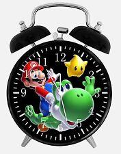 "Super Mario Yoshi Alarm Desk Clock 3.75"" Room Office Decor W13 Nice For Gift"