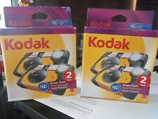 Kodak Hd Power Flash Disposable 35Mm Camera 2 Pack 27 Exp 2016 New Sealed