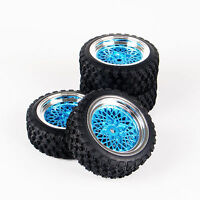 10365-21104 1/10 RC Rally Racing Off Road Car Rubber Tyre & Wheel Set(4pcs)