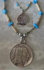 Halskette Necklace Indianer Indian Coin Buffalo Western Indianerschmuck