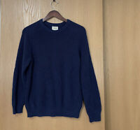 Vintage L.L.Bean Long Sleeve Knit Pullover Sweater Navy Blue Mens Size S