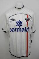 UMBRO Men's Collectable White Blue Liga De Quito Home Football Jersey 2001 L