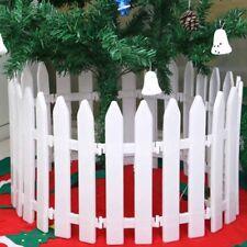 5x White Plastic Picket Fence Miniature Garden Christmas Xmas Tree Decor Healthy