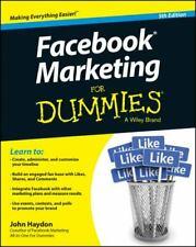 Facebook Marketing for Dummies® Paperback John Haydon 5th Edition Like New