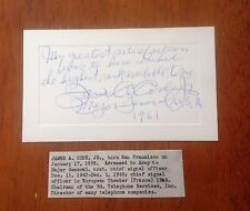 Major General James A. Code Jr. Chief Signal Officer Corp WWII Signed Army