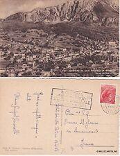 # CORTINA D'AMPEZZO - FALORIA- 1954 CON ANNULLO A TARGHETTA
